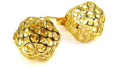 Hasil 3D Metal Printing Menggunakan Bahan Emas