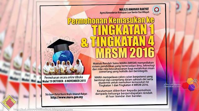 Semakan keputusan tawaran MRSM Tingkatan 1 dan 4 2016. Semakan sudah boleh  mula dibuat mulai 4 Februari 2016 melalui url berikut   Tingkatan 1 ... baa467e678