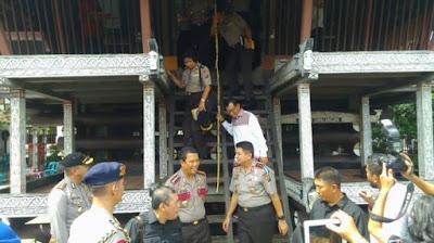 Kapolda Sumut saat berkunjung ke Museum Simalungun, Selasa (22/11/2016).