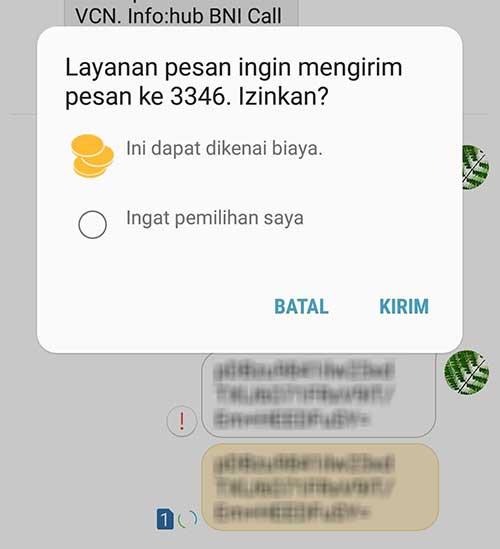 SMS Aktivasi