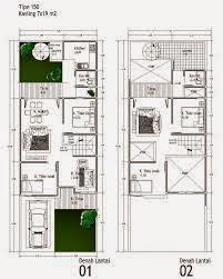 Contoh Rumah Minimalis 2 Lantai Type 60 terbaik