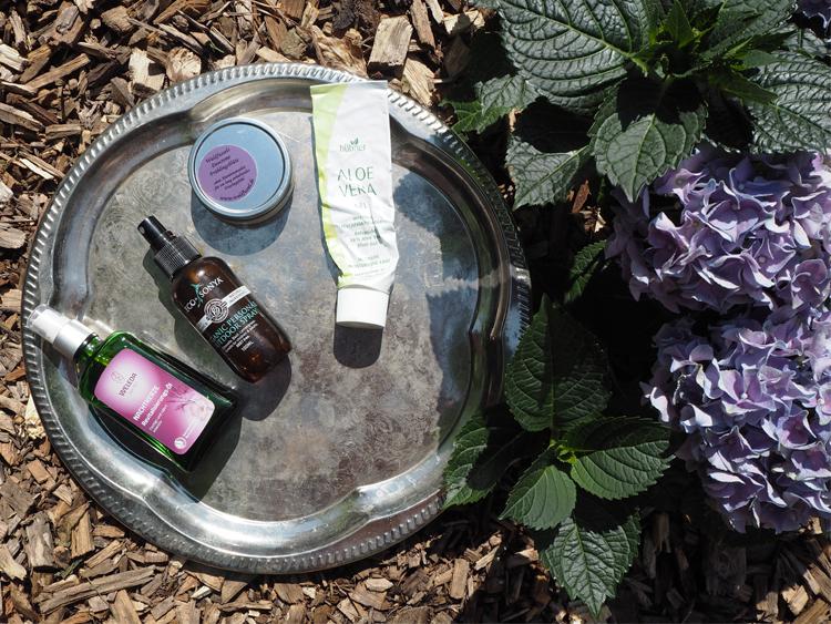 Naturkosmetik-Körperpflege und Insektenschutz