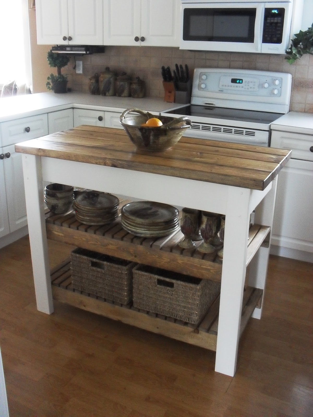 Home frosting kitchen island - Small butcher block island ...