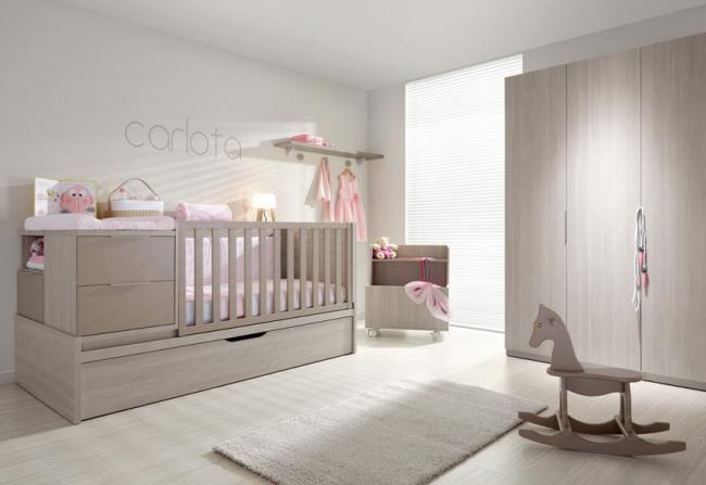 Dormitorios de beb color beige dormitorios colores y for Muebles habitacion bebe