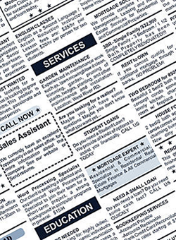Local classified ads can also help