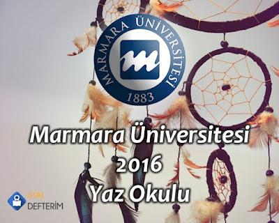 Marmara Üniversitesi 2016 Yaz Okulu
