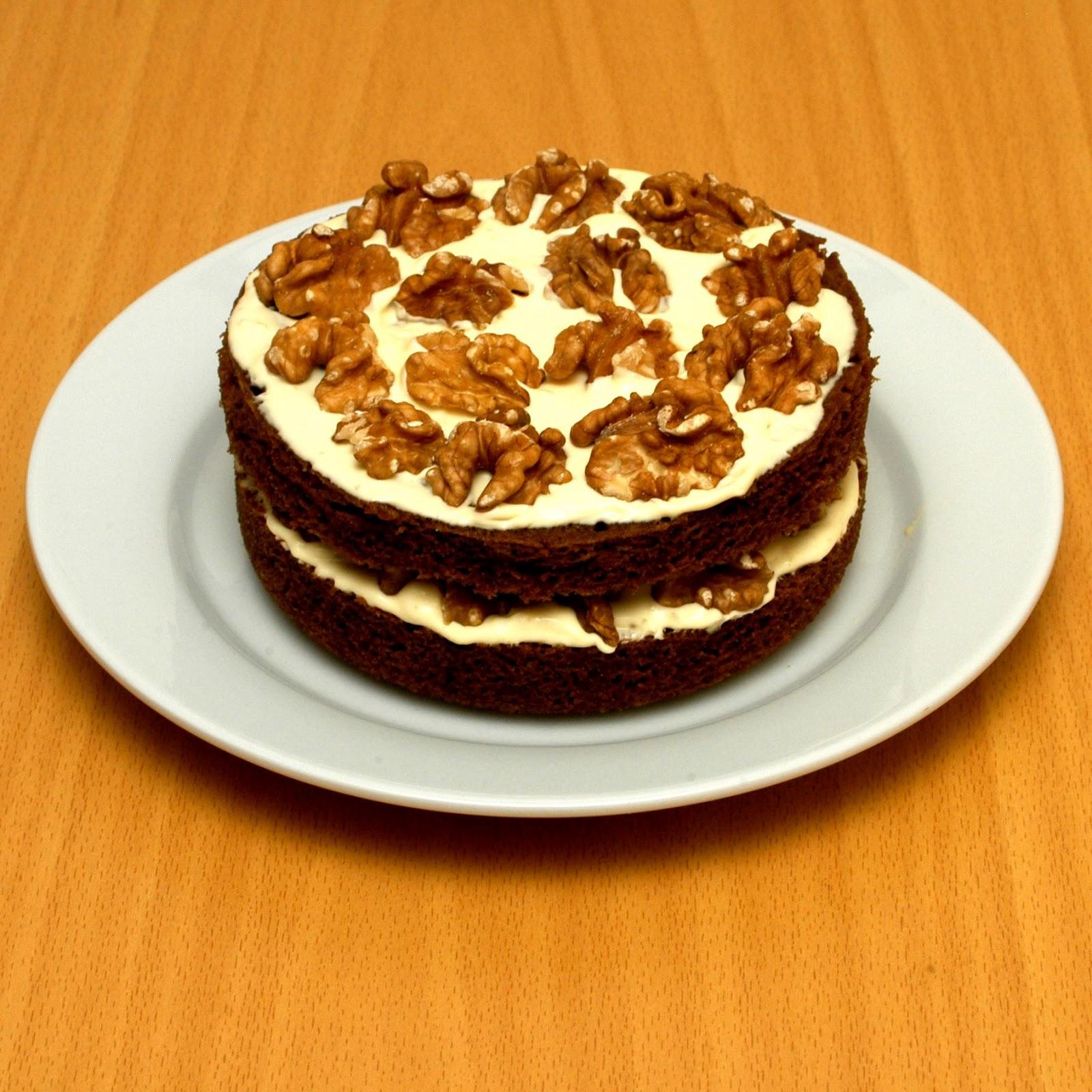 Diabetic Coffee And Walnut Cake