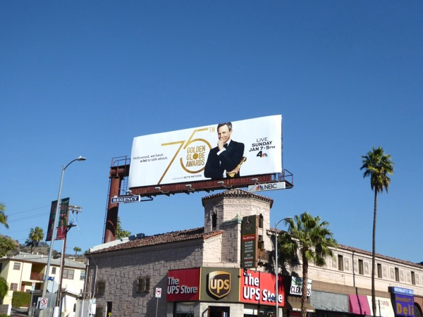 2018 Golden Globes billboard