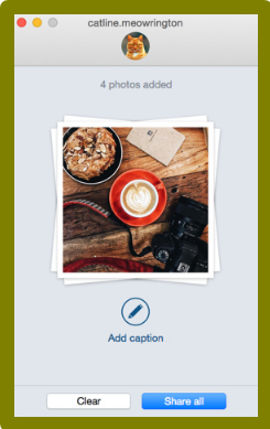 Uplet is a Mac app that lets you publish pictures to Instagram