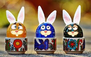 Conigli cioccolata Pasqua colorati
