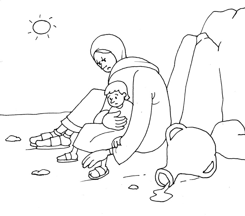 hagar and ishmael coloring pages - photo#24