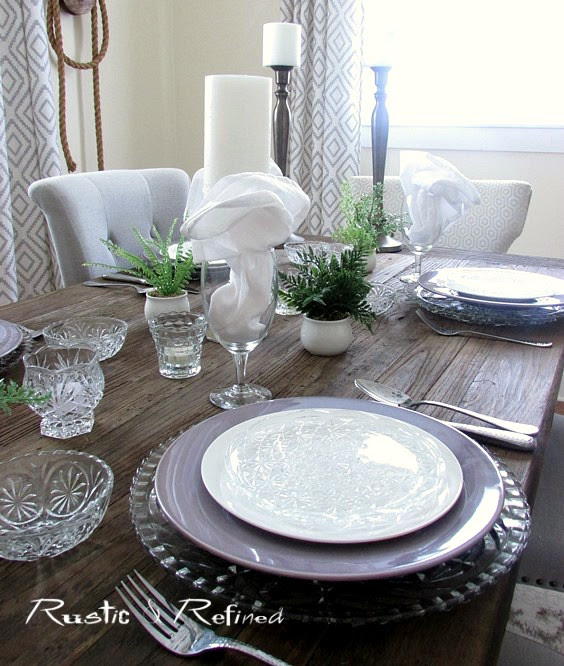 Setting a romantic tablescape using vintage dishes found at a thrift store