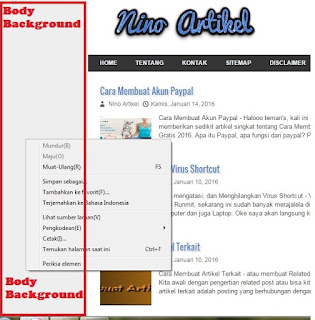 Cara Mengganti Warna BackgroundTemplate Blog