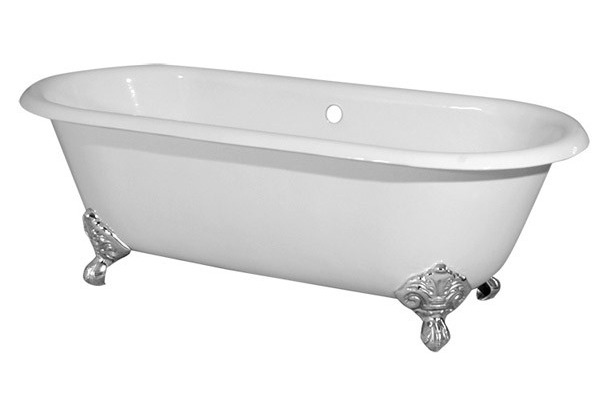 antique clawfoot tub for two