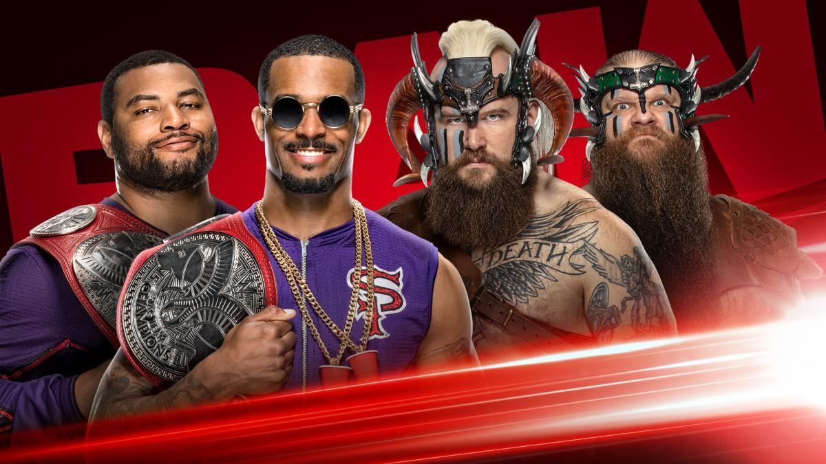 WWE anuncia torneio de lançamento de machado entre o Street Profits e os The Viking Raiders