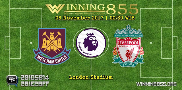 Prediksi Akurat West Ham vs Liverpool | 05 November 2017