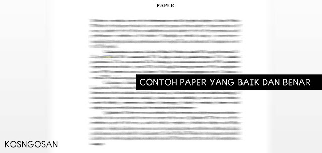 Contoh Paper Kuliah yang Baik dan Benar