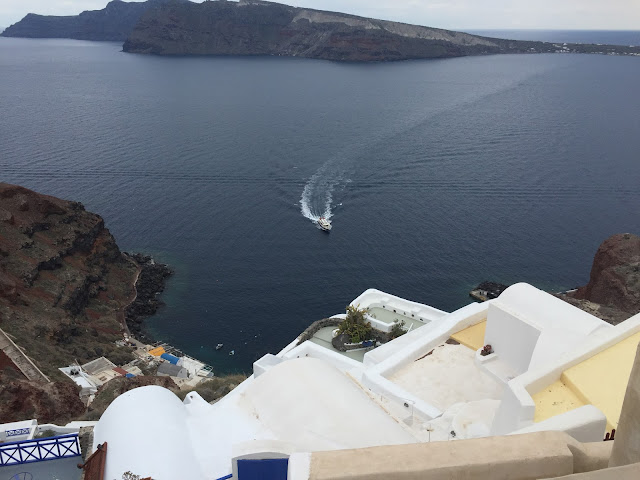 A view over caldera and Aegean Sea