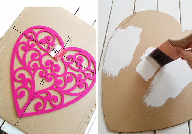 cardboard heart cut out for tissue paper heart for valentines