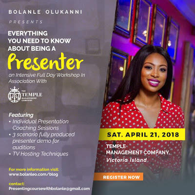 Bolanle Olukanni Partners Temple Management To Launch TV Presenting Workshop