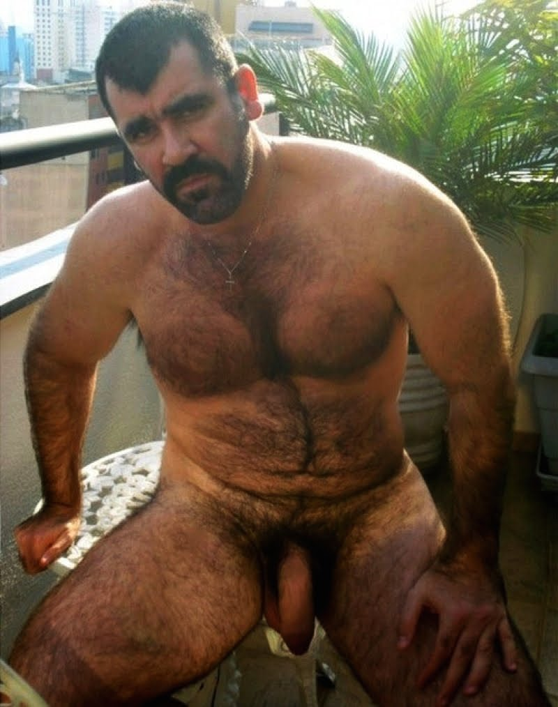 Middle Eastern Hairy Naked Daddy-4436