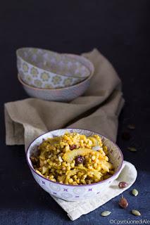 grano saraceno, curcuma, finocchio, uvetta e semi di zucca