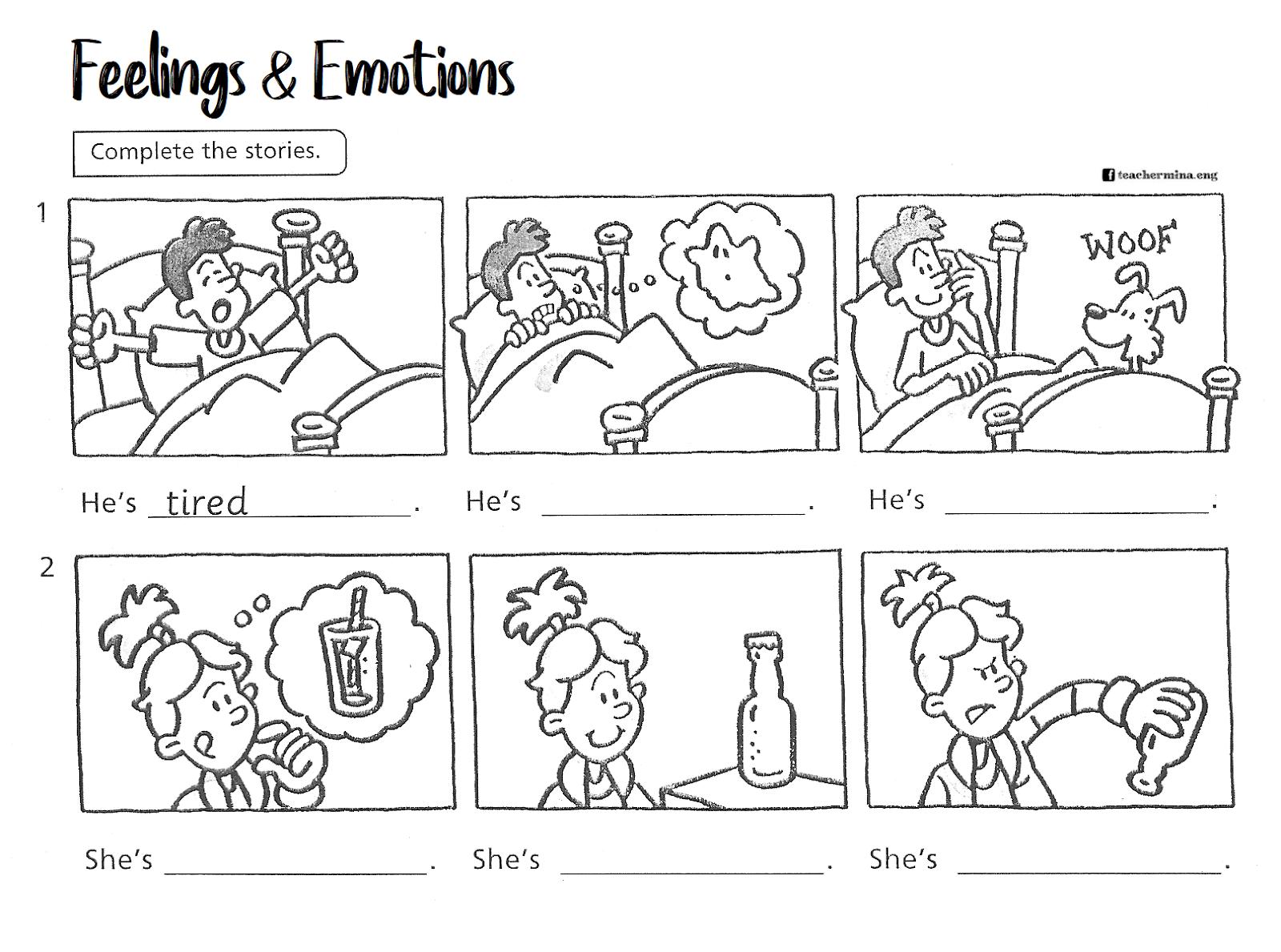 Teachermina Activities Feelings And Emotions