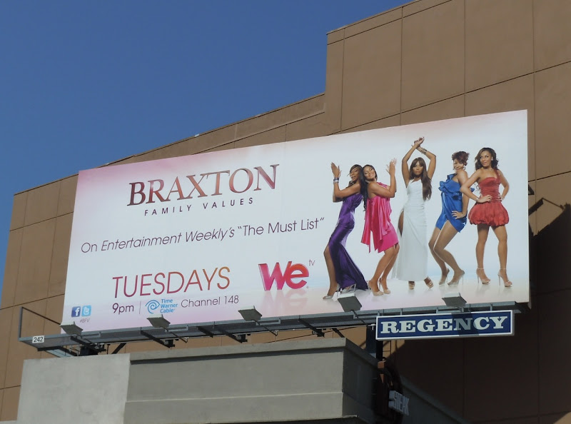 Braxton Family Values season 2 TV billboard