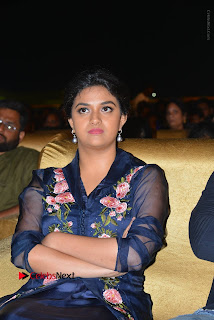 Actress Keerthi Suresh Stills in Blue Long Dress at Nenu Local Audio Launch  0048.JPG