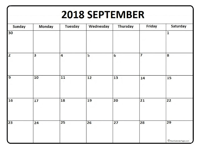 September 2018 Calendar, September 2018 Printable Calendar, September 2018 Calendar Template, Blank September 2018 Calendar, September 2018 Calendar Printable, Calendar September 2018, September 2018 Calendar with Holidays, September 2018 Calendar PDF, September 2018 Calendar Word, September 2018 Calendar Excel