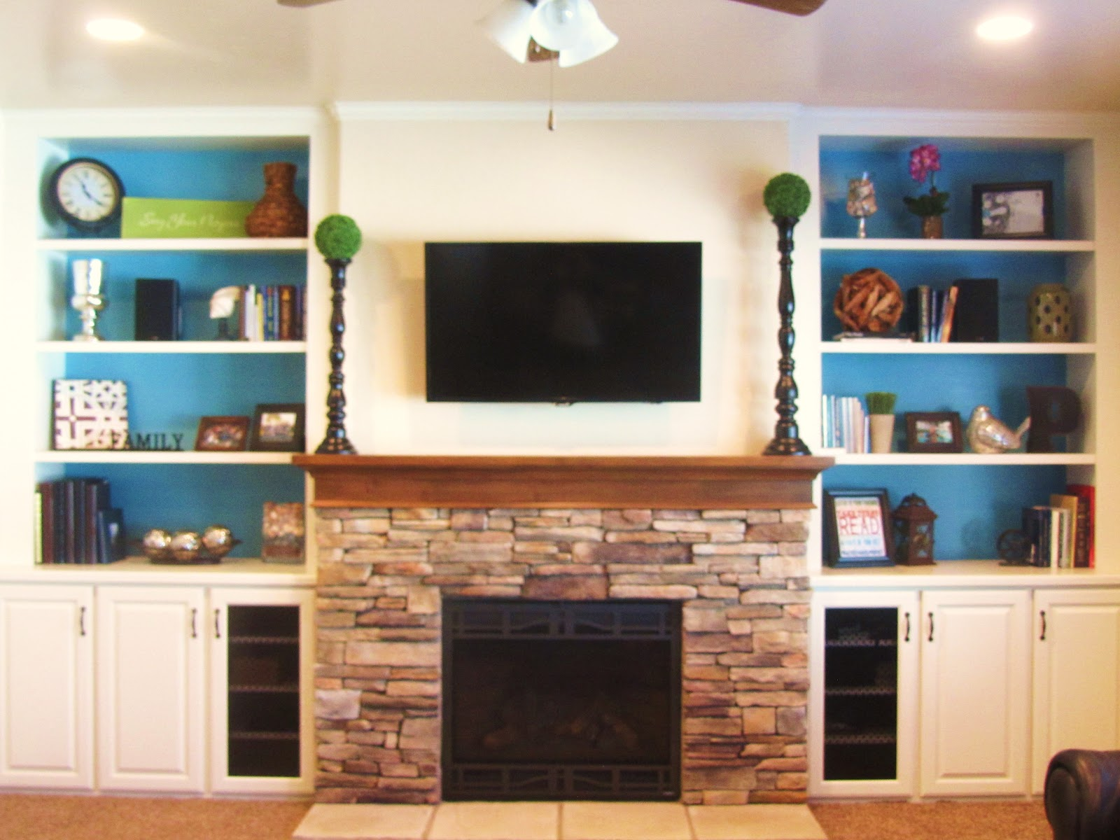 Kaza Design Llc New Fireplace And Contemporary Built Ins