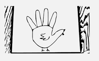 Turkey hand drawing steps