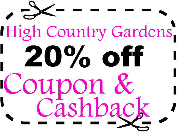 High Country Gardens Promo Code 20% off March, April, May, June, July, August 2020