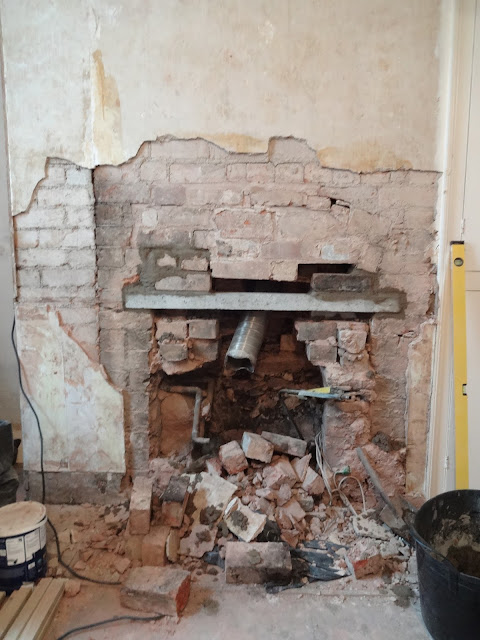 how to re-brick a chimney