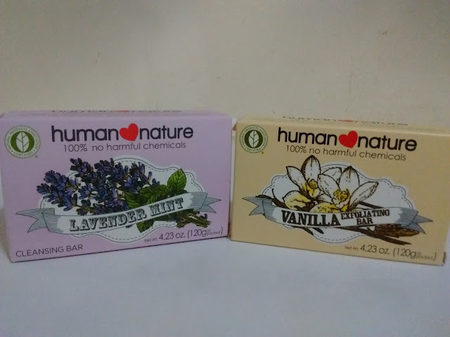 Human Nature Lavender Mint Bar and Vanilla Exfoliating Bar