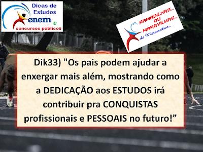 Dik33: Dedicação Aos Estudos Conquista Futuro