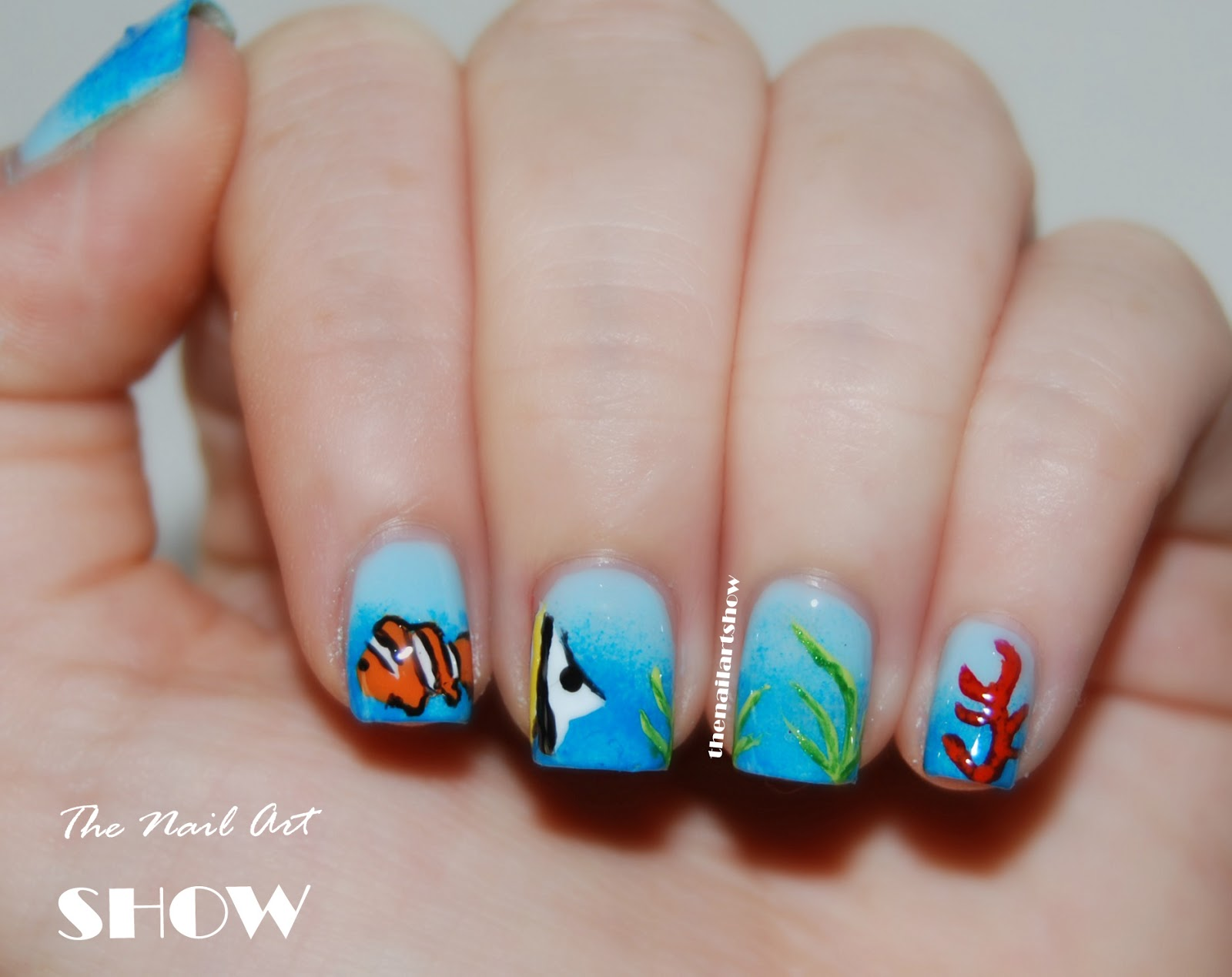 June Nail Art Challenge  Day 8: Ocean   The Nail Art Show