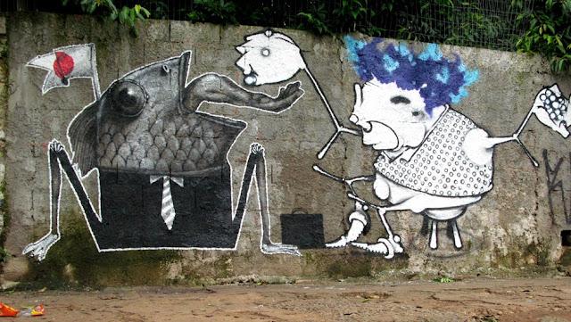 Мрачные рисунки на стенах. Ethos 21