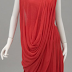Then & Now ~ Draped Red Gown