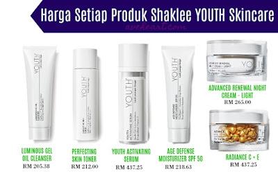 Skincare Youth Shaklee | Perbezaan, Keistimewaan dan Harga