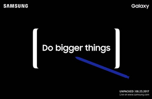 Samsung Galaxy Note 8 Unpacked event will be on August 23