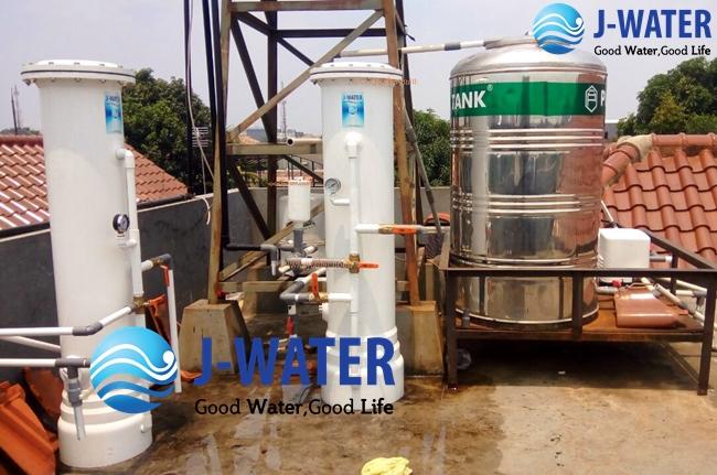 cara filter penjernihan air kapur