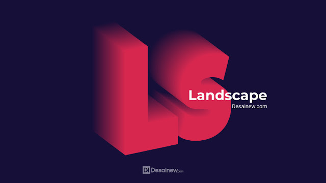 How to create 3D blend text effect in inkscape tutorial Desainew Studio