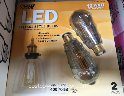 Ensure your home has the proper lighting with Feit 40 Watt LED Vintage Style Bulbs