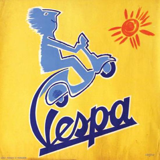 Vespa advertising 1955