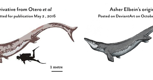 Case of a Mosasaur picture
