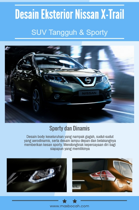 Desain Exterior Nissan All New X-Trail