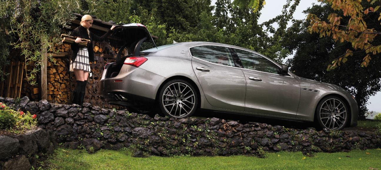Bagagliaio Maserati Ghibli: capacità volumetrica in litri