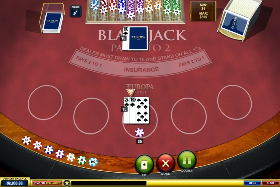 Europa Casino Blackjack Screen