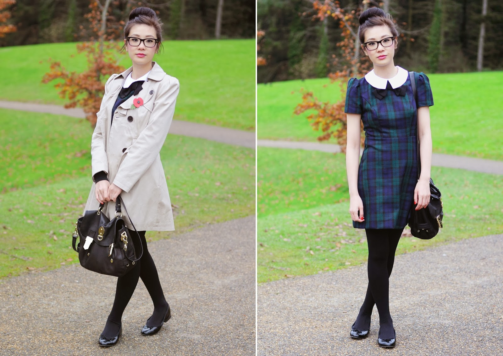 How To Style Tartan Dress, tartan dress from primark